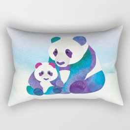 Alfie & Alice the Pandas Rectangular Pillow