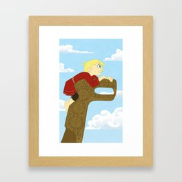 Young Coal and Rollo Framed Art Print