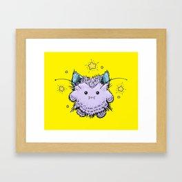 Kitty Fairy Fluff Framed Art Print