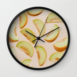 Melon slices Wall Clock