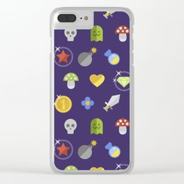 Video Game Universe Pattern Clear iPhone Case