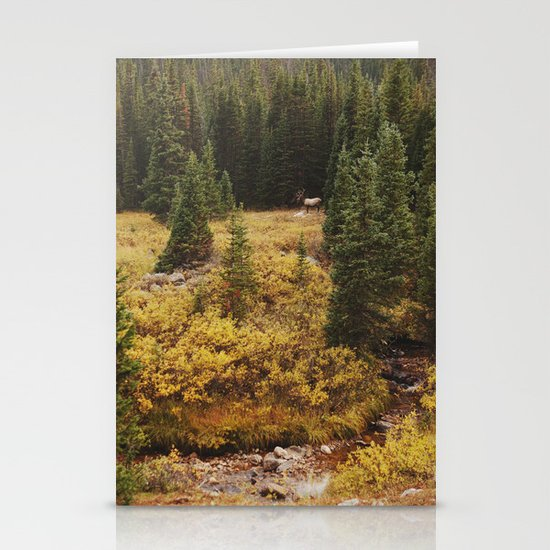 Rocky Mountain Creek Elk Stationery Cards