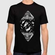 On how the mystical levitation of divers are induced by floating pyramids Black Mens Fitted Tee MEDIUM
