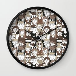 Crowd Pattern Wall Clock