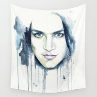 cheshire Wall Tapestries featuring Brian Molko (Cheshire) by Cora-Tiana