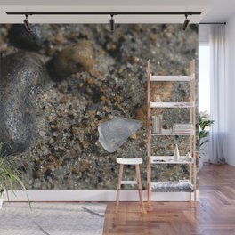 Beach Glass in the sand Wall Mural