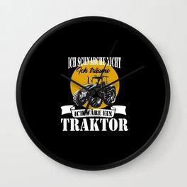 Tractor Farmers Men Tractor Drivers Wall Clock