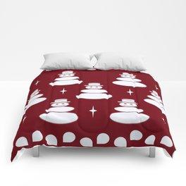 Snowmen pattern -red Comforters