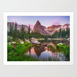 Lone Eagle Peak Art Print
