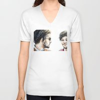 cyrilliart V-neck T-shirts featuring Rebels Without A Cause by Cyrilliart