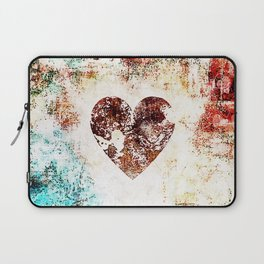 Vintage Heart Abstract Design Laptop Sleeve