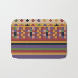 Stripes and squares ethnic pattern Bath Mat