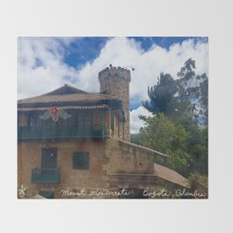Mount Monserrate at Christmastime Maybe, Bogota, Colombia Throw Blanket