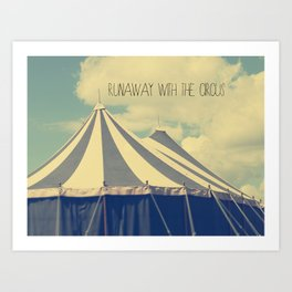 Circus tent Art Print