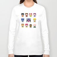 x men Long Sleeve T-shirts featuring Pixel X-Men by PixelPower