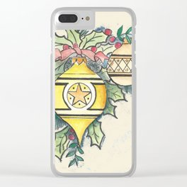 Evergreen and Gold III Clear iPhone Case