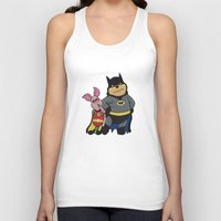 pooh Tank Tops featuring Bat Pooh by thedoormouse