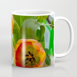 Flowers with tomatoes in background Coffee Mug