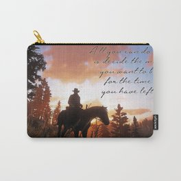 Sunset Cowboy - The Time You Have Left Carry-All Pouch