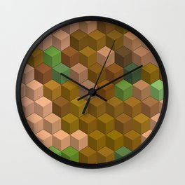 Multicolor blocks Wall Clock