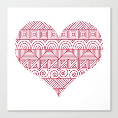 Patterned Valentine Canvas Print