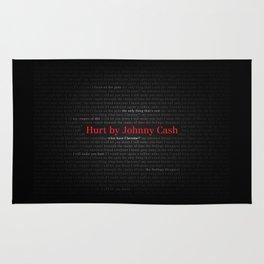 Hurt by Johnny Cash Rug