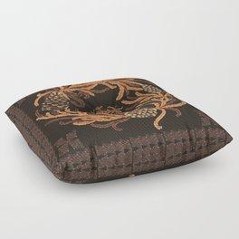 Wreath and Diamond Floor Pillow