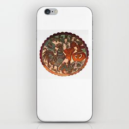 Chinese New Year Rooster Greetings iPhone Skin