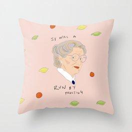 Run By Fruiting Throw Pillow