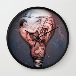 Trapped In This Idea - Navy Wall Clock