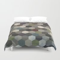 hexagon Duvet Covers featuring Hexagon  by Kitty Emsley