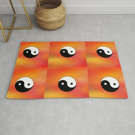 Yin and Yang 5 - Tao,Zen,Taoism,Dao,Harmony,religion,buddhism,buddhist,taijitu,taiji,taoist,china Rug