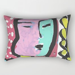French Bus ticket recycled Art Portrait Rectangular Pillow