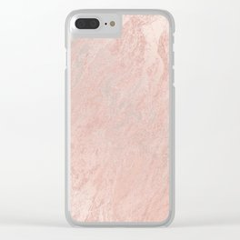 Rose Gold Foil Clear iPhone Case