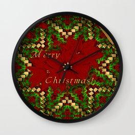 Merry Christmas - Christmas Art By Giada Rossi Wall Clock