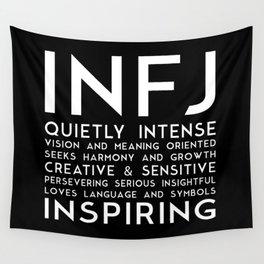 INFJ (black version) Wall Tapestry