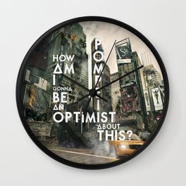 Bastille - Pompeii #3 (How Am I Gonna Be An Optimist About This?) Wall Clock