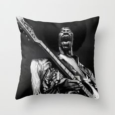 The Great Hendrix Throw Pillow