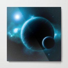 Deep Space Blue Metal Print
