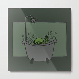 Creature of the Tub Metal Print