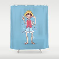 monkey Shower Curtains featuring Monkey  by HypersVE