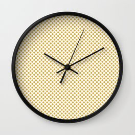 Spicy Mustard Polka Dots Wall Clock
