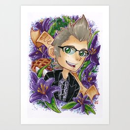 Ignis in Purple Art Print