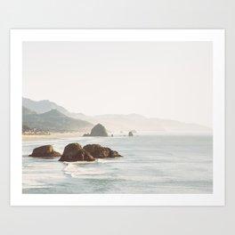 overlooking cannon beach Art Print