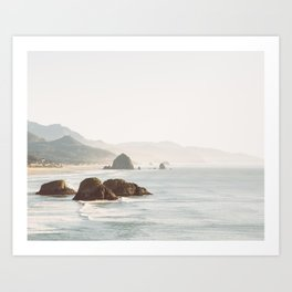 overlooking cannon beach Art Print