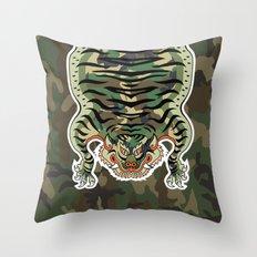 TIBETAN TIGER CAMOUFLAGE Throw Pillow