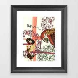 tropical week Framed Art Print