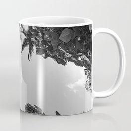 Rainforest Canopy - Tropical Sky Black and White Coffee Mug