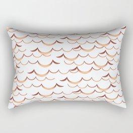 Gold Waves Rectangular Pillow