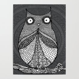 Doodle Owl Poster